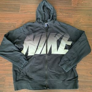 Nike blue tag zip up jacket black